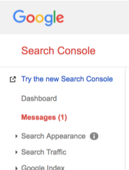 Search Console Message