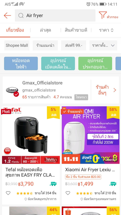 Shopee Product keywords